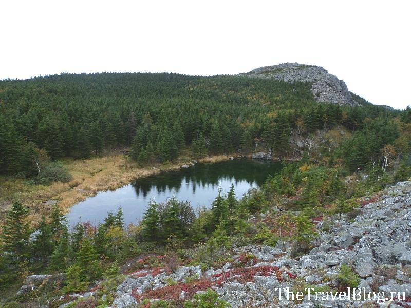 озеро на горе Ольховая