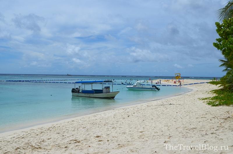 огороженный пляж