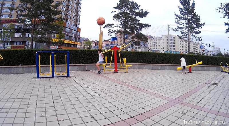 В Хуньчуне очень много тренажеров