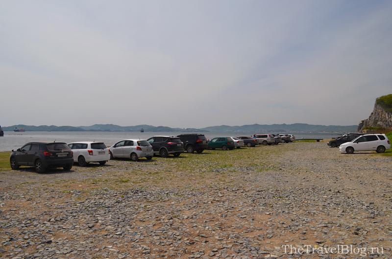 парковка на пляже