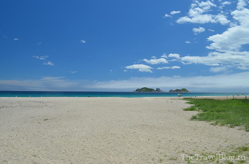 пляж, море и остров