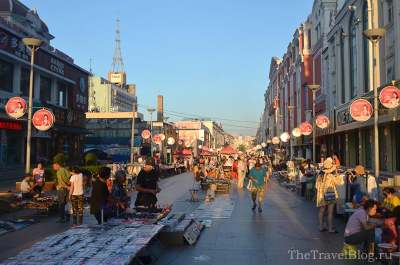 вечерний рынок в Хэйхэ