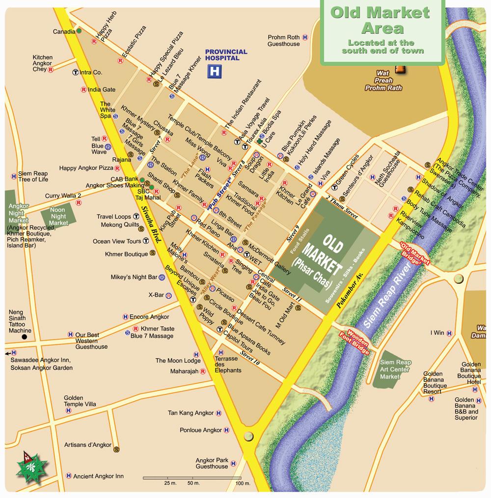 Карта Old Market + Pub Street