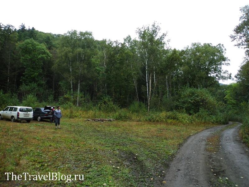 площадка для отдыха у подножья горы Ольховая