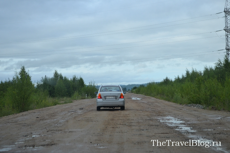 дорога была еще размыта дождем