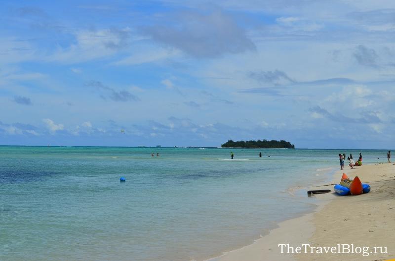 пляж рядом с отелем Хаят  - лучший на Сайпане