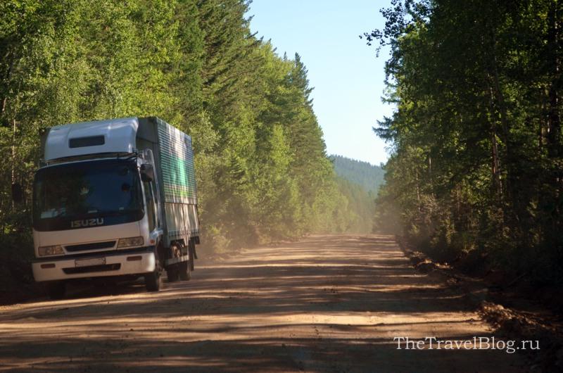 дорога из Максимихи в Усть-Баргузин
