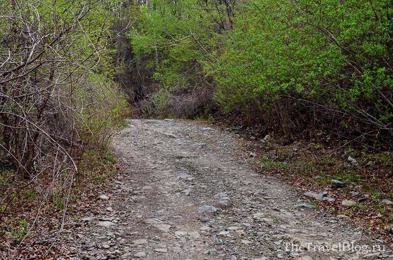 дорога с камнями