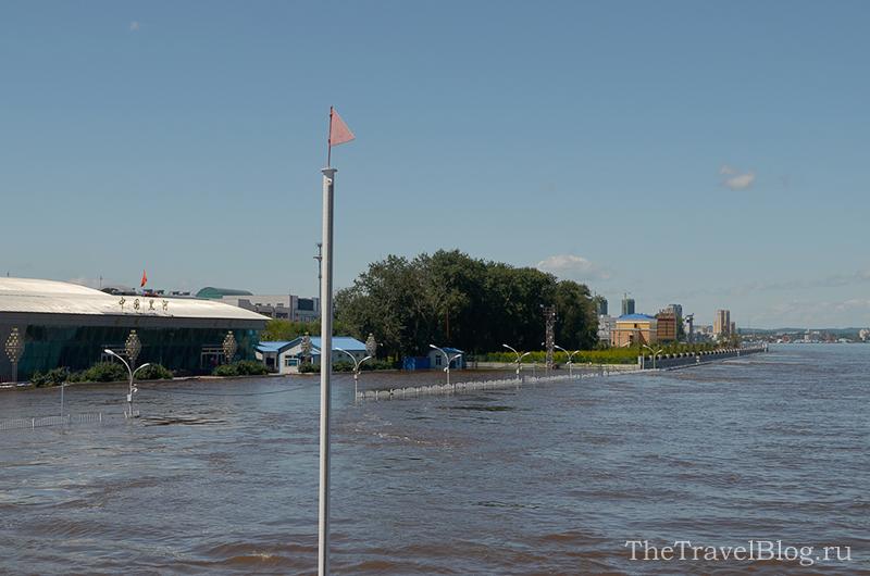 подъем уровня воды Амура