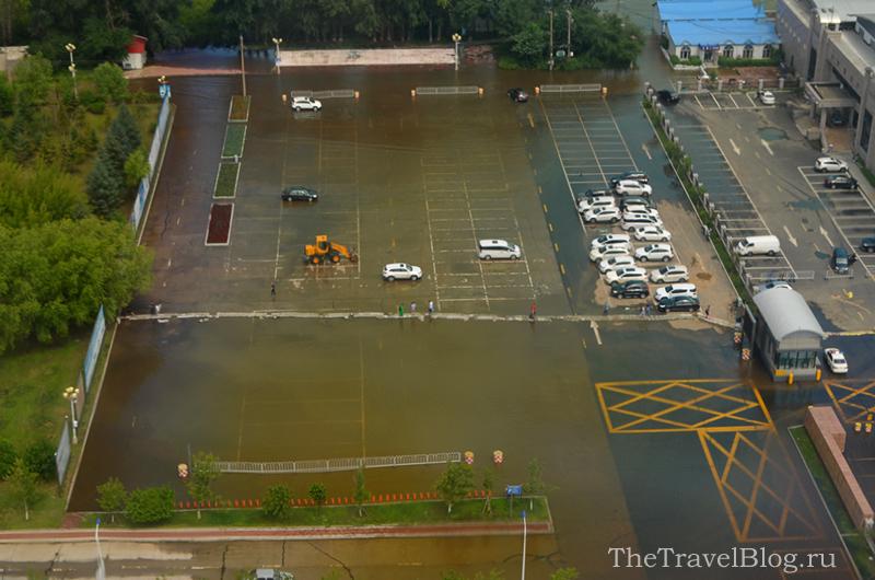 затопленный речной вокзал